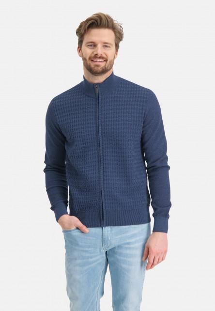 Cardigan-Plain-with-zipper-closure---navy/navy