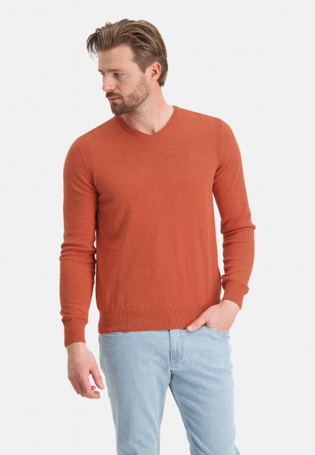 Jumper-of-organic-cotton-with-brand-logo---brick-plain