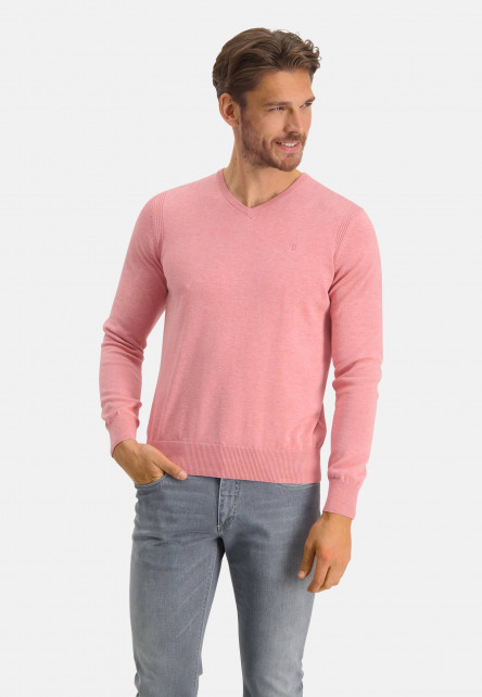 Jumper-of-organic-cotton-with-brand-logo---pink-plain
