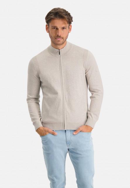 Cardigan-plain-with-a-high-collar---cream/lightgrey