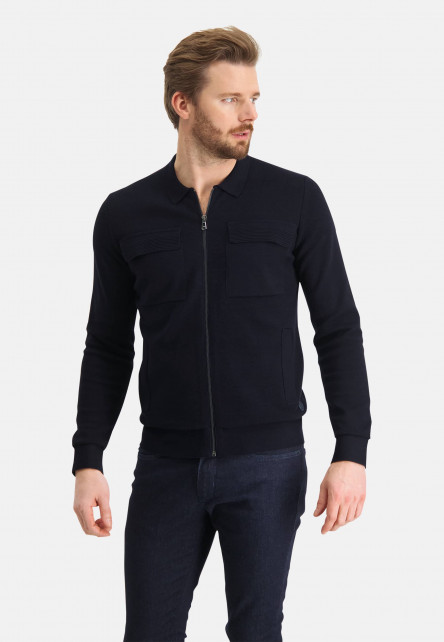 Cardigan-Plain-with-side-pockets---dark-blue-plain