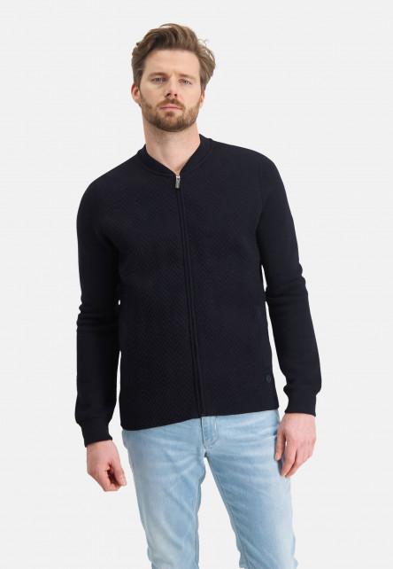 Cardigan-Plain-with-zipper---dark-blue-plain