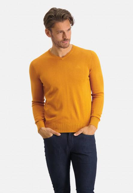 V-neck-jumper-with-a-regular-fit---mango-plain