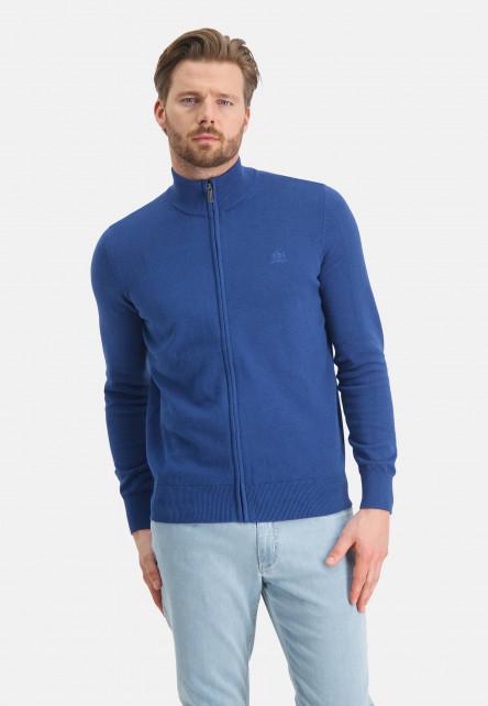 Cardigan-Plain-from-cotton---cobalt-plain