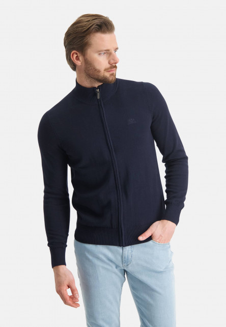 Cardigan-Plain-from-cotton---dark-blue-plain