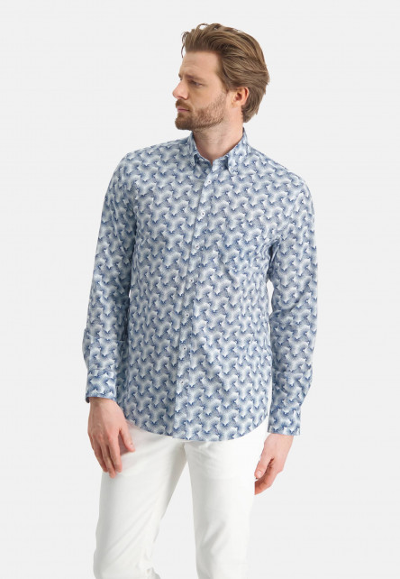Shirt-with-all--over-print---cobalt/white