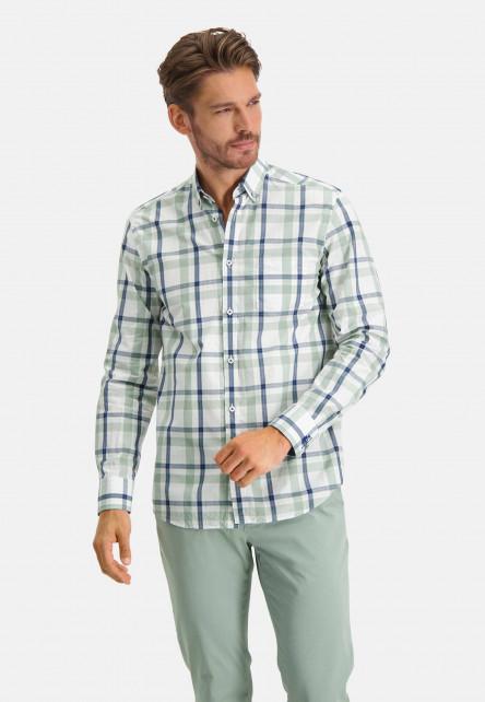 Shirt-Checked---emerald-green/cobalt