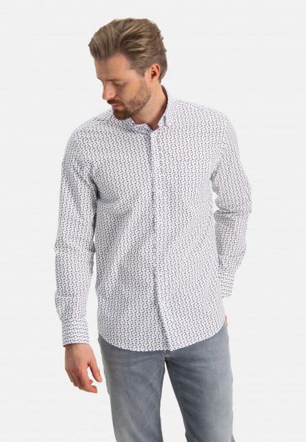 Shirt-with-graphic-print---brick/sand