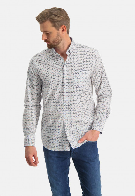 Shirt-with-graphic-print---pink/dark-green
