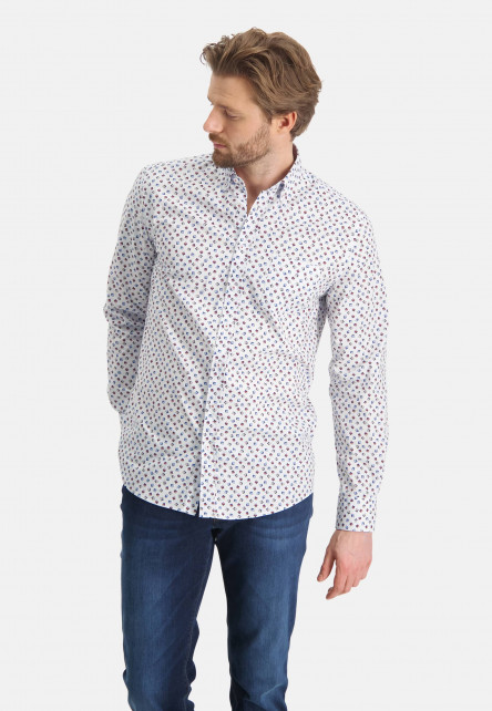 Shirt-with-a-chest-pocket---brick/sand