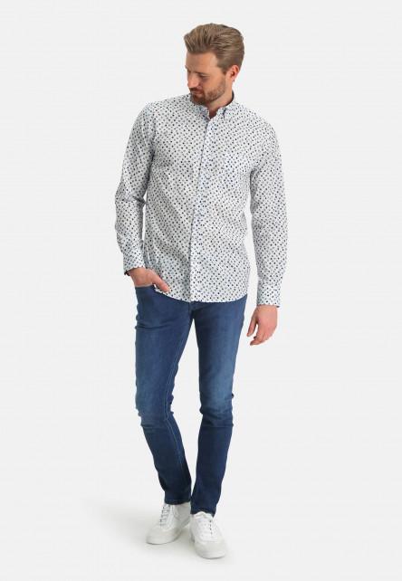 Shirt-with-a-chest-pocket---cobalt/sand