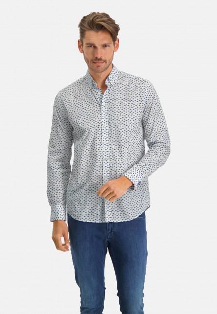 Shirt-with-a-print-all-over---sulphur/cobalt