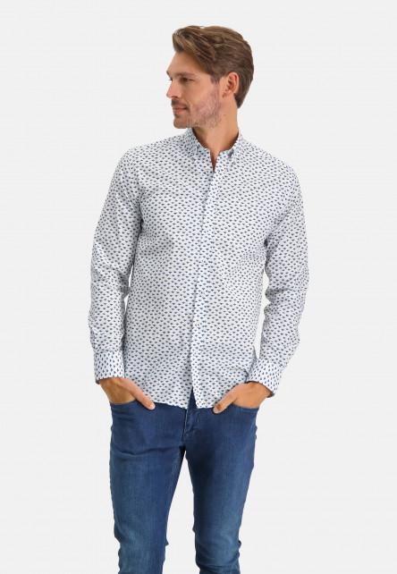 Shirt-with-a-print-all-over---cobalt/sand