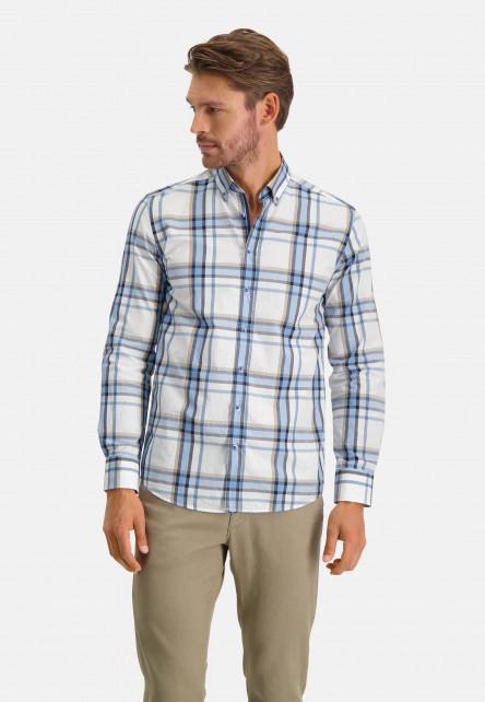 Shirt-Checked---cobalt/sand