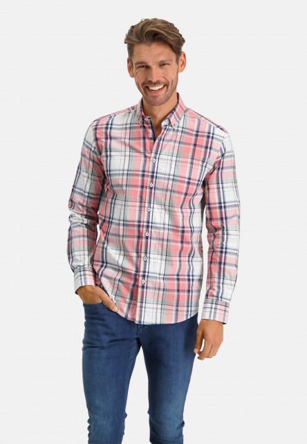Shirt-Checked---pink/cobalt