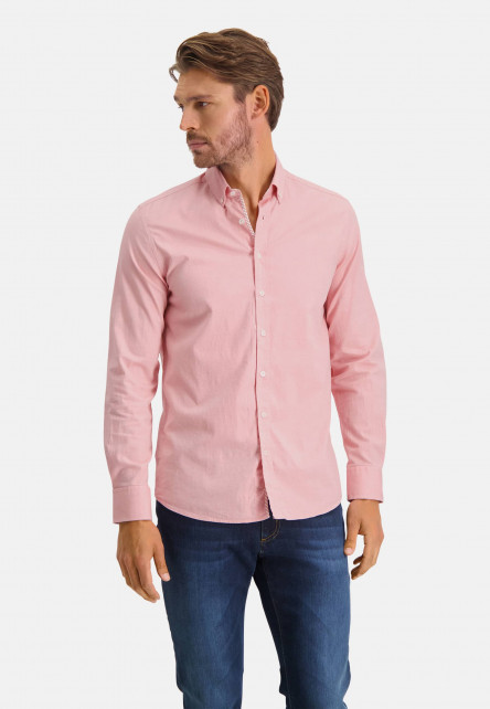 Cotton-shirt-with-stretch---pink/white