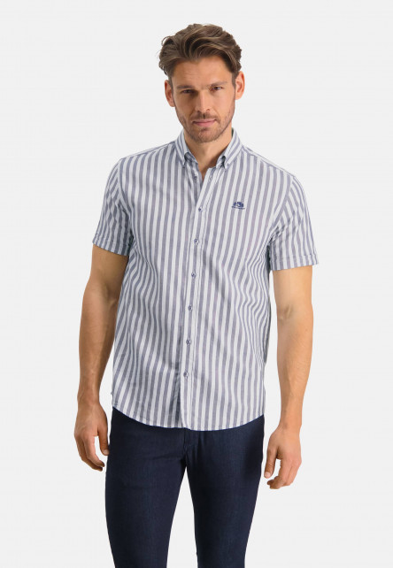 Shirt-with-stripes-and-regular-fit---white/cobalt
