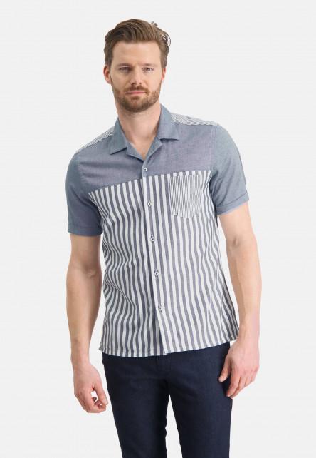 Shirt-with-a-bowling-collar---cobalt/white