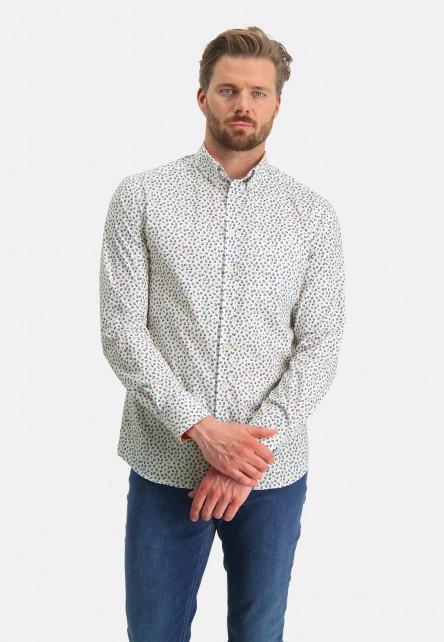 Shirt-with-an-all-over-print---sulphur/dark-green