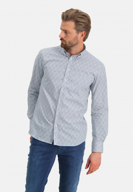 Shirt-with-a-print-all-over---cobalt/mid-blue