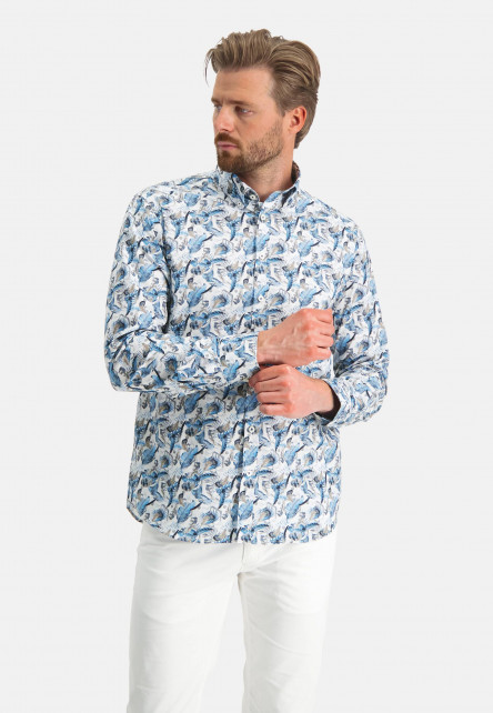 Cotton-shirt-with-stretch---grey-blue/sand