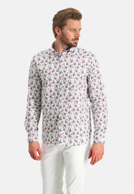 Shirt-Print---pink/cobalt