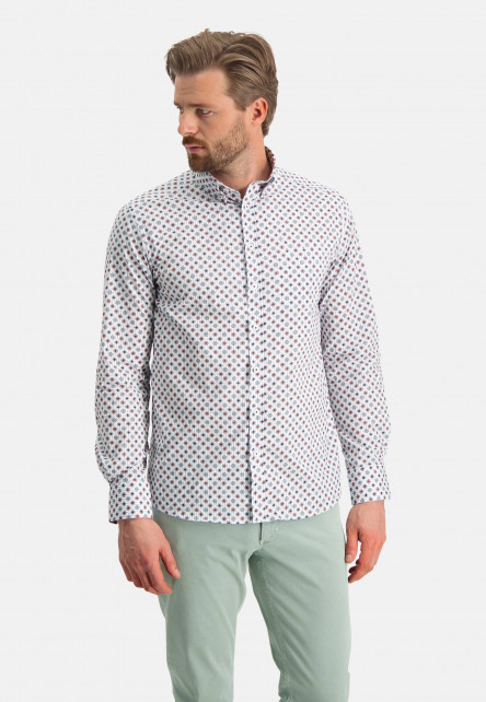 Shirt-with-a-chest-pocket---wine-red/dark-green