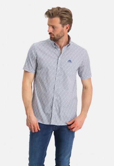 Short-sleeve-shirt-with-print---cobalt/mid-blue