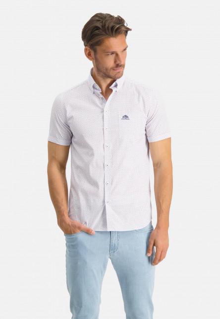 Button-down-shirt-with-short-sleeve---cobalt/brick