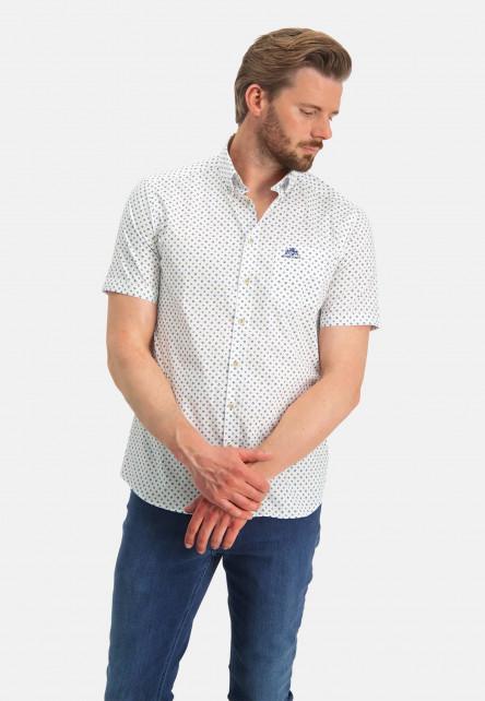 Shirt-Print---cobalt/sand