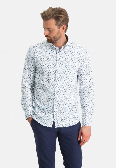 Shirt-Print---cobalt/white