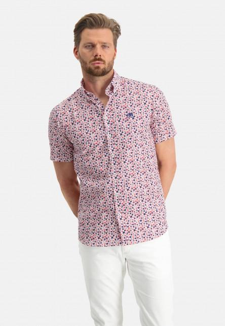 Shirt-Print---pink/wine-red