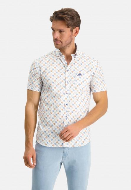 Stretch-shirt-with-chest-pocket---mango/cobalt