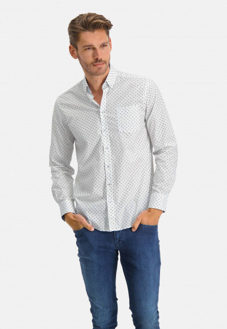 Shirt-Print---sulphur/cobalt