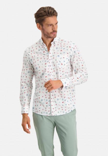 Shirt-Print---wine-red/dark-green