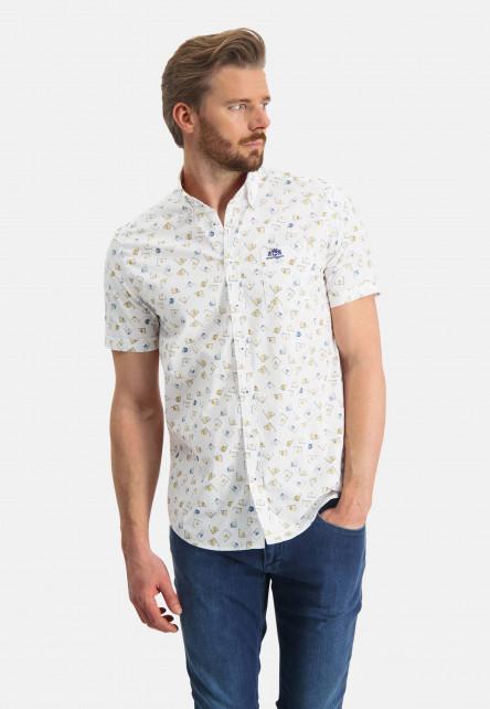 Regular-fit-shirt-made-of-stretch-cotton---mango/cobalt