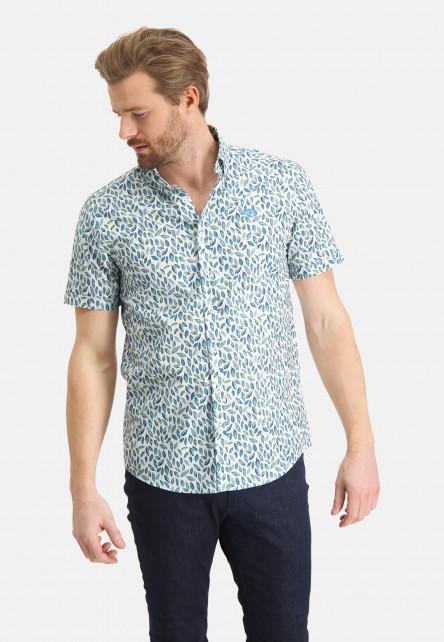 Shirt-with-a-botanic-print---emerald-green/mid-blue