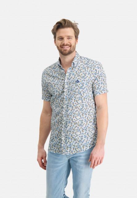 Cotton-shirt-with-stretch---white/cobalt
