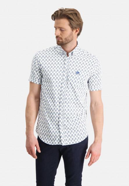 Shirt-with-a-satin-look---cobalt/light-blue