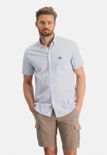 Shirt-with-a-graphic-print---cobalt/sand