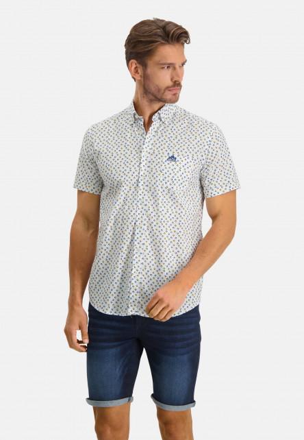 Shirt-with-a-geometric-print---sulphur/emerald-green