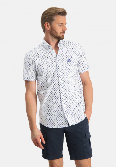 Shirt-with-a-geometric-print---cobalt/sand