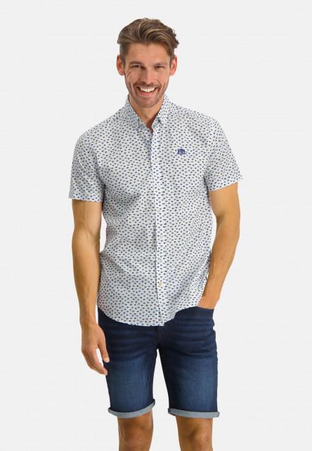 Regular-fit-shirt-with-a-button-down---sulphur/cobalt