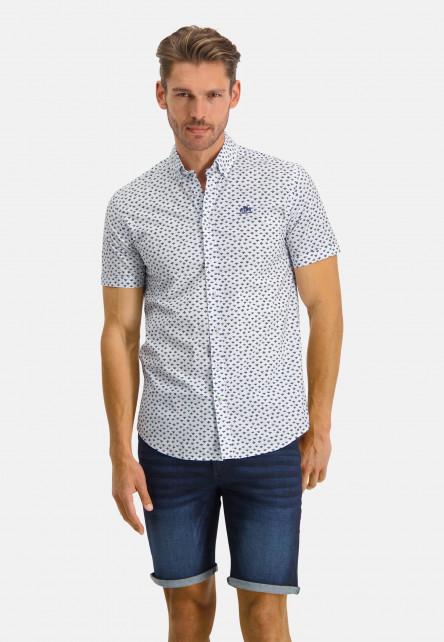 Regular-fit-shirt-with-a-button-down---pink/cobalt