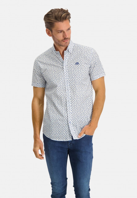 Regular-fit-shirt-with-a-button-down---cobalt/sand