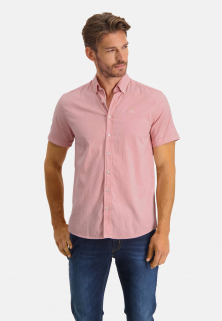 Oxford-shirt-of-stretch-cotton---pink/white