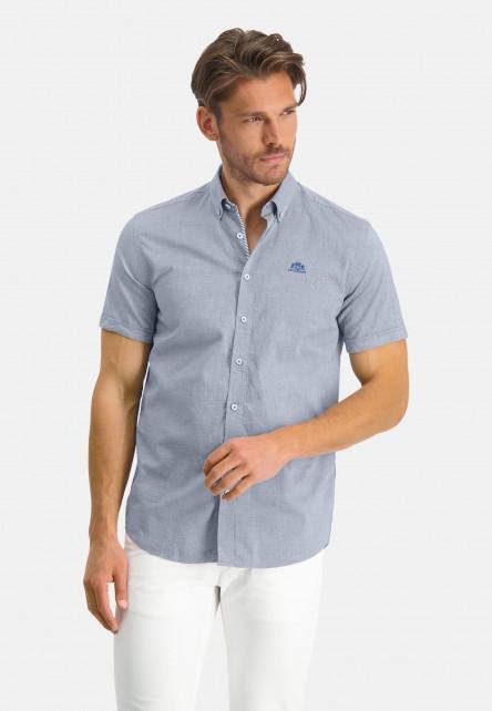 Oxford-shirt-of-stretch-cotton---cobalt/white