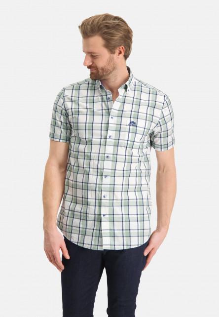 Shirt-made-of-100%-cotton---emerald-green/cobalt