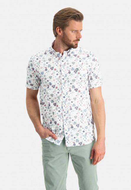 Shirt-Print---pink/emerald-green