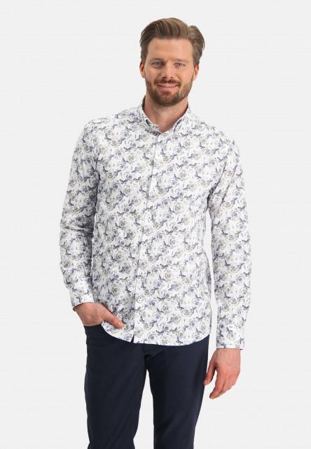 Shirt-with-a-butterfly-print---cobalt/sand